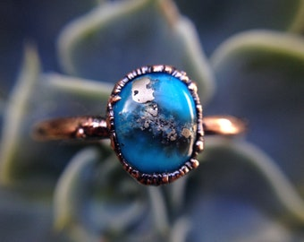 Sleeping Beauty Turquoise | Turquoise | Pyrite With Turquoise | Turquoise Ring | Pyrite | Ready-To-Ship