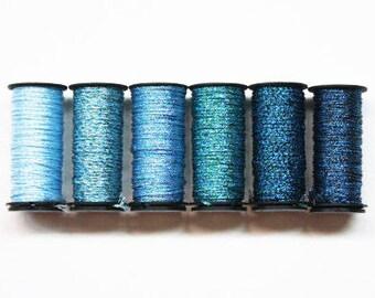 Kreinik #16 Braid 4.00 Each, Kreinik Metallic Braid, Kreinik Metallic #16 Braid, Kreinik Medium Braid, Metallic Threads, Scrapbooking Yarns