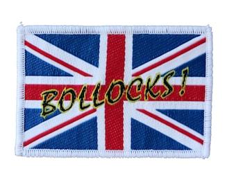 Union Jack Flag Bollocks! Patch British Saying UK Badge Woven Sew On Applique