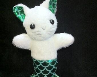 "Mermaid Cat Mercat ""Catfish"" Plush Plushie Toy"