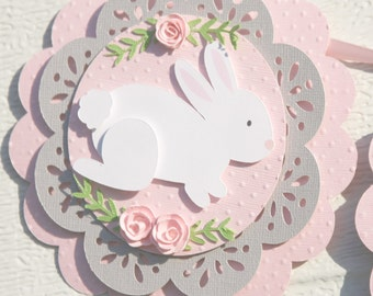bunny birthday party banner - bunny party decorations - some bunny is one