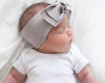 Organic Baby headband, knot headband, baby girl headband, bow headband, newborn headband, soft headband