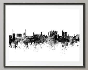 Fayetteville Skyline, Fayetteville Arkansas Cityscape Art Print (2798)