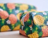 Trousse de toilette Ananas en coton enduit