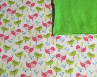 Bird baby blanket set