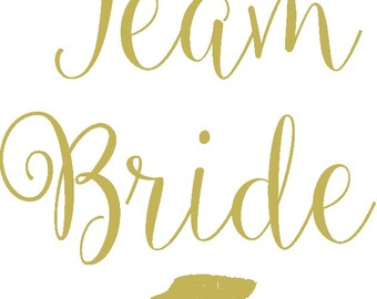 Personalised Hen or Bachelorette Party Temporary Tattoos 'Team Bride'  lips design