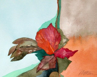 "HOLIDAY SALE      Fall Series  "" A Kind of Rhapsody""  Original, One of a Kind Watercolor"