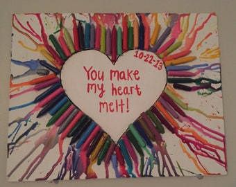 Melted Crayon Art -Custom Crayon Art