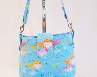 Mermaid Bag / Designer Purse / Little Girls Handbag with Matching Purse / Coin Purse / Girls Purse / Bag / Mermaids / Handbag / Purse