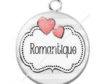 Pendant cabochon resin romantic mademoiselle 7