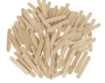 Wooden Craft Popsicle Sticks, Natural, 2-1/2-Inch, 100-Piece