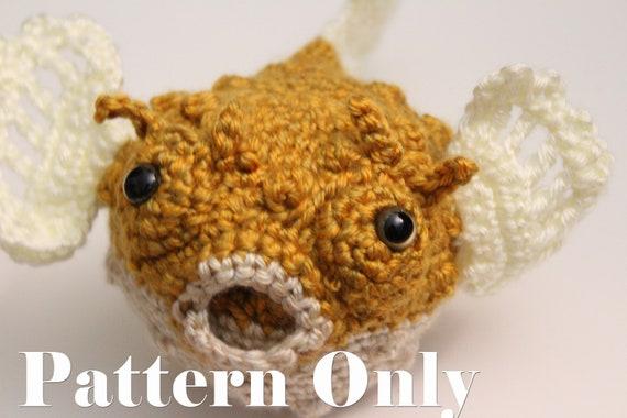 Amigurumi Fish Tutorial : Amigurumi fish pattern crochet pattern puffer fish yellow