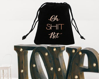 Oh shit kit, bachelorette party, bachelorette, bridesmaid gift, bachelorette favors, shit kit, survival kit, recovery kit, wedding, favor