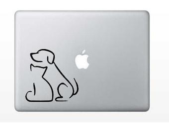 Dog & Cat Decal - Animal Decal - Dog Decal - Cat Decal - Laptop Decal - Cell Phone Decal - Laptop Sticker - Car Decal - Tumbler Decal