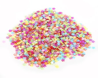 Mix colored star 3 mm sequin/pailleten