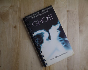 Handmade Ghost Patrick Swayze Demi Moore 1990 Movie Re-purposed VHS Cover Notebook Journal