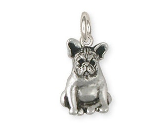 Sterling Silver French Bulldog Frenchie Charm Jewelry  FR19-C