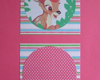 Bambi Upcycled Book Illustration, Blank Journal Notebook, GIft for Her, Back to School, Walt Disney Fan