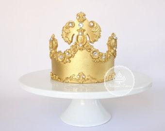 Fondant crown , Fondant crown Cake Topper, Royal crown ,gum paste crown