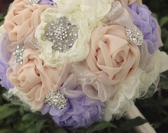 Bridal Bouquet | Fabric Wedding Flowers | Wedding Bouquet | Brooch Bouquet | Fabric Bridal Bouquet | Fabric Flower | Chiffon Bridal Bouquet