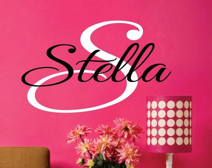 Personalized, Name Wall Decal, Vinyl Decals, Custom Name Sign, Bedroom Wall Art, Nursery Name Sign, Kids Room Sign, Preteen Teen Girls, Baby