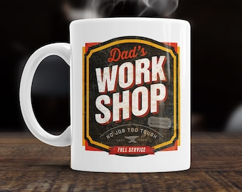 Dad Gift, Workshop Dad, Dad Mug, Birthday Gift For Dad! Dad Present, Dad Birthday Gift, Gift For Dad! Present For Dad, Awesome Dad, Love Dad
