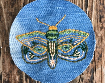 Moth Patch | Hand embroidery