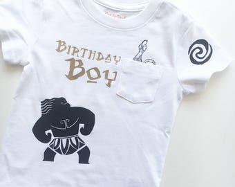 Moana birthday shirt for boy or girl