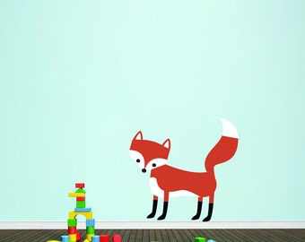 Woodland Forest Fox - Nursery Kid's Room Animals Printed Wall Decal