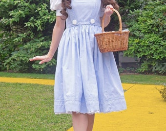 Wizard of Oz Dorothy Dress, Custom made costumes, Ladies Dorothy Costume, Wizard of Oz Costumes