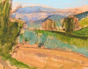 Tuscany, Italy Plein Air Painting Original Landscape