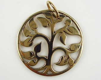 Natural Bronze Small  Tree of Life Pendant