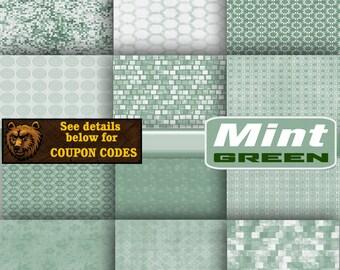 green digital paper, scrapbook, background