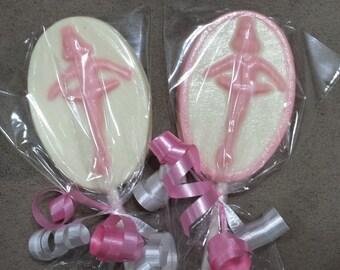 Ballerina Ballet Dance Dancer Chocolate Lollipop Party Favors