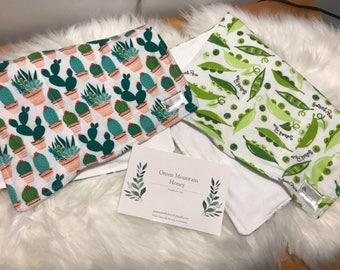 Flannel Burp Cloths- Set of 2