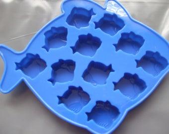 Silicone Mould Mini Fish Shapes Wax Melts,Chocolate,Sweets,Soap,Ice,Fondant etc