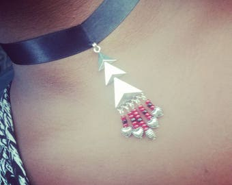 Black Satin Choker Necklace #NC3177