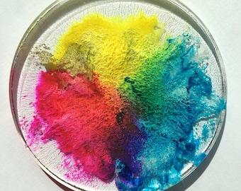 Rainbow resin petri #2