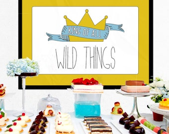 """Where the Wild Things Are Party Backdrop - Birthday Party. 24x36"""" Table Decoration. *INSTANT DOWNLOAD*"""