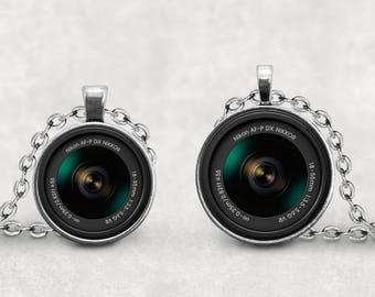 Nikon AF-P DX Nikkor Camera Lens Necklace, Camera Lover, Camera Lens Jewelry, Vintage Camera Lens, Photography Necklace, Pendeloque Pendants