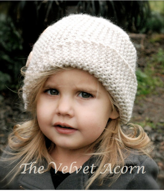 Knitting PATTERN-The Piper Cloche\' Toddler Child Adult