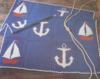 Crochet Pattern - Nautical Afghan - Vintage