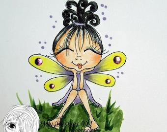 INSTANT DOWNLOAD digitale Digi Stamps Big Eye Big Head poppen nieuwe Fae Fairy zoete traktatie My Besties door Sherri Baldy