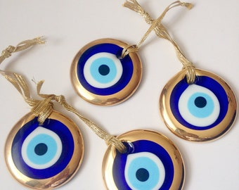 Greek evil eye etsy gold evil eye beads turkish evil eye gold evil eye charm evil eye wall hanging nazar boncuk greek evil eye large evil eye aloadofball Choice Image