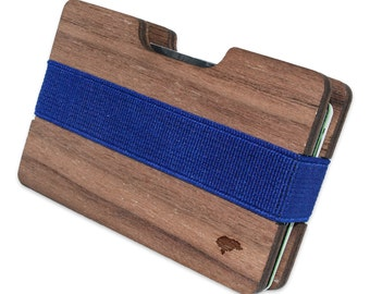 Honduras Slim Minimalist Wooden Wallet. Handmade And Laser Engraved. Made in the USA.