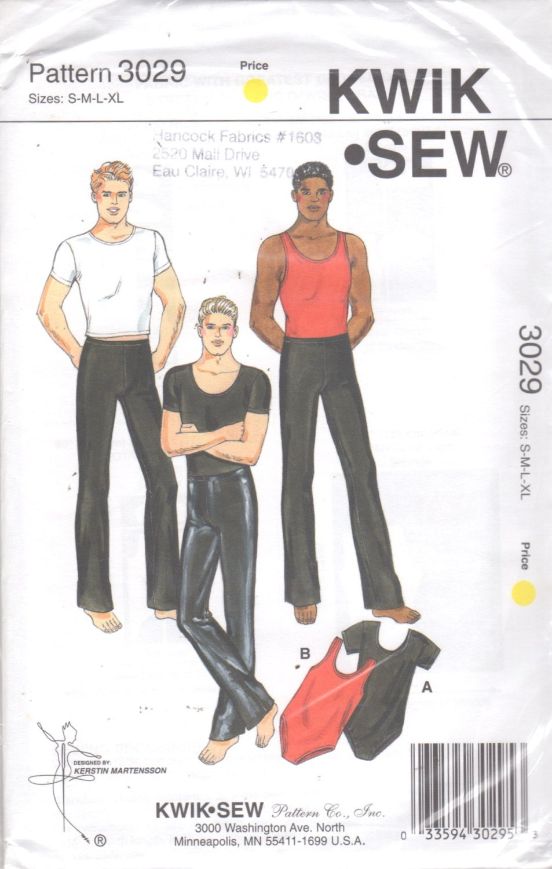 Kwik Nähen 3029 Mens Dance Wear Muster Rundhalsausschnitt