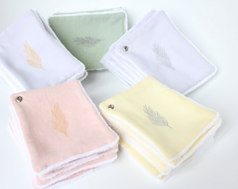 Customize your set of 7 wipes/7 choices/Lot of wipes debarbouillantes composing custom cleansing wipes