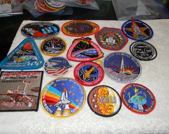 15 Nasa Patches set
