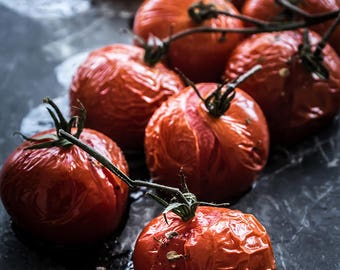 Food Photography, Tomatoes, Food Art, Still Life Photography, Home Decor, Wall Art, Restaurant Decor, Kitchen Art