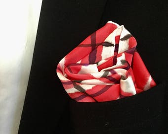 Pocket Square #5 (silk, hand painted)